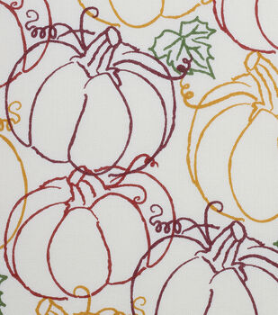 Autumn Inspirations Pumpkin Scribbles Fabric