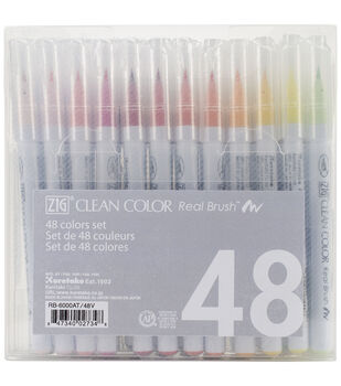 Zig® 48pcs Clean Color Real Brush Markers