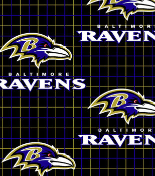 Baltimore Ravens NFL Plaid Flannel Fabric by Fabric Traditions