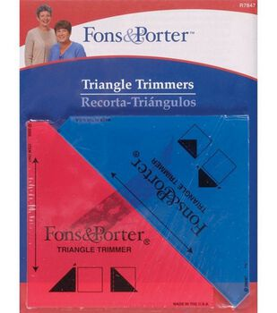 """Fons&Porter 0.5""""&0.25"""" Triangle Trimmers"""