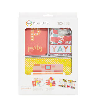 Project Life Value Kit 130/Pkg-Sprinkles Cards & Die-Cuts W/Glitter