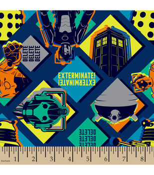 Doctor Who Patch Cotton Fabric