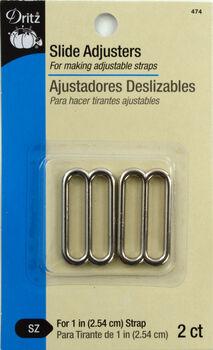 """Slide Adjusters 1""""-Silver 2/Pkg"""