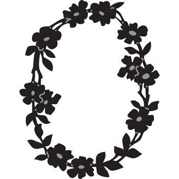 Marianne Designs Craftable Die Flower Border Oval