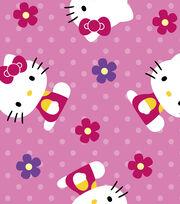 Sanrio Hello Kitty Flowers Ultra Fluffy Fleece Fabric, , hi-res