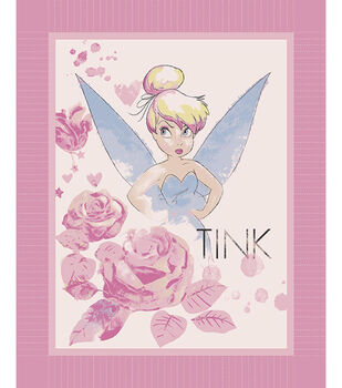 "Tinkerbell All The Stars 48"" No Sew Fleece Throw"
