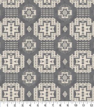 Snuggle Flannel Fabric 42''-Gray Aztec