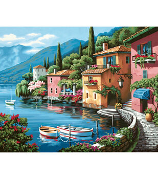 "Dimensions Paint By Number Kit 20""X16""-Lakeside Village"