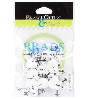 Eyelet Outlet Brads-Pumpkin 12/Pkg