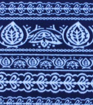 Anti-Pill Fleece Fabric-Navy Bandanda