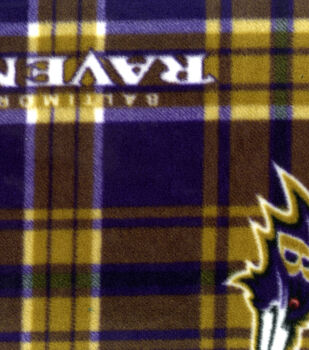 Baltimore Ravens NFL Plaid Fleece Fabric by Fabric Traditions