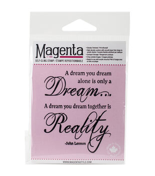 Magenta Cling Stamps-Reality