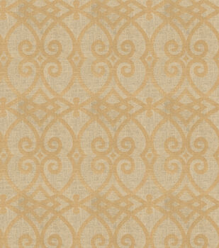 Jaclyn Smith Upholstery Fabric-Gatework Metallic-Rot/Gold