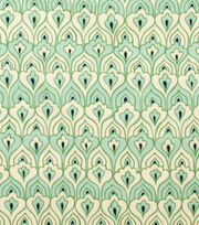 Alexander Henry Cotton Fabric-El Pavo Real Tea Celadon, , hi-res