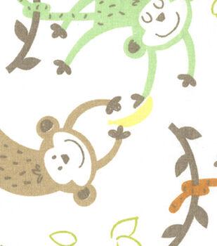 Nursery Fabric - Banana Monkeys