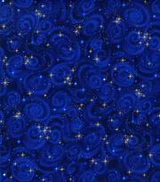 Premium Cotton Fabric-Stars Midnight, , hi-res