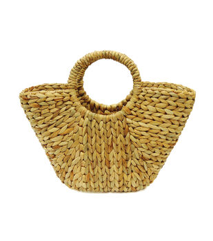 Escape To Paradise Grass Rope Shopping Bag