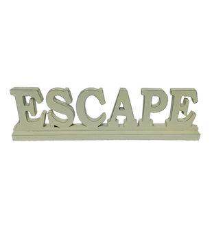 Escape To Paradise Wooden Table Decor-Escape