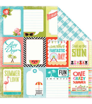 Carta Bella Summer Lovin' Lazy Day Double-Sided Cardstock Paper