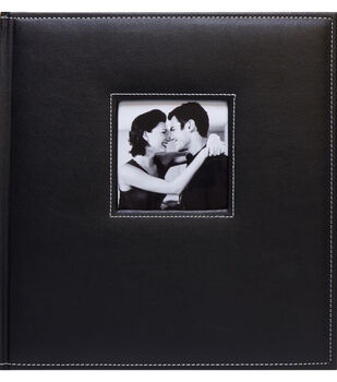 K&Company Black Faux Leather Stitched 5 Up Photo Album
