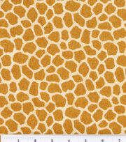 Nursery Fabric Jungle Babies Flannel Giraffe Skin, , hi-res