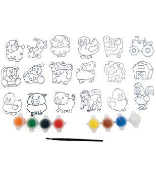 Kelly's Crafts Suncatcher Group Activity Kit-Farm 18/Pkg