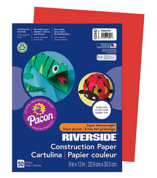 Busy Kids Learning Riverside Construction Paper-Holiday Red