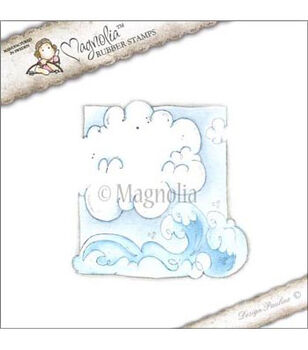 "Pink Lemonade Cling Stamp 3.75""X6.5"" Package-Cloudy Sea"