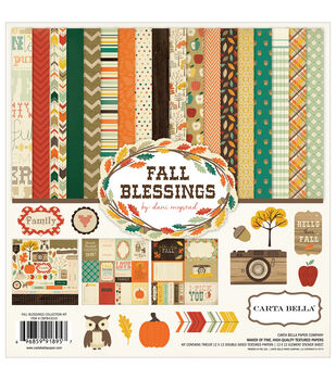 Carta Bella Fall Blessings Collection Kit 12''x12''