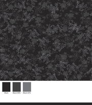 Keepsake Calico™ Cotton Fabric-Floral On Black, , hi-res