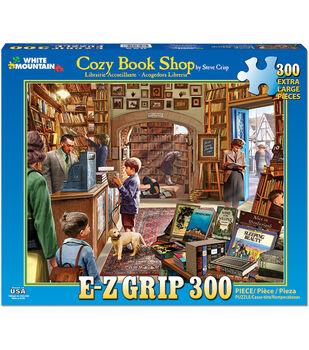 White Mountain Puzzles 300 Pieces 24''x30'' Jigsaw Puzzle-Cozy Book Shop