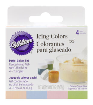 Wilton® Icing Colors 4/Pkg-Moss Green/Conflower Blue/Peach/Petal Pink