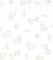 Nursery Fabric- Jungle Animals Swaddle Cloth, , hi-res