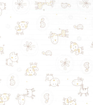 Nursery Fabric- Jungle Animals Swaddle Cloth