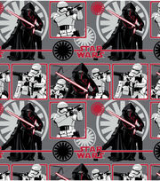 Star Wars VII Heroes In Squares Flannel Fabric, , hi-res