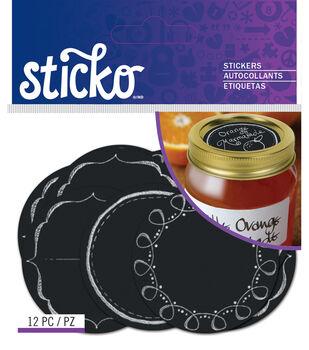 Sticko - Chalk Mason Jar Labels Standard