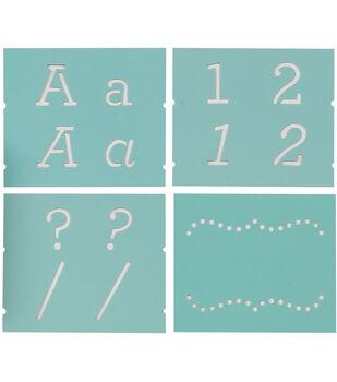 """Martha Stewart Alphabet Stencil 48/Pk-Typewriter-Font Size 1-1/2"""""""