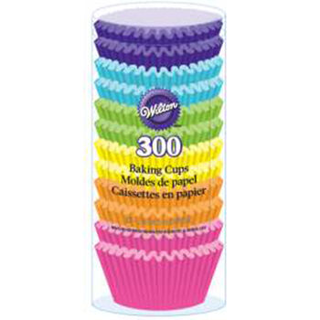 Wilton® Standard Baking Cups-Rainbow Brights 300/Pkg