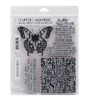 Stampers Anonymous Perspective Cling Rubber Stamp Set