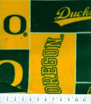 University of Oregon NCAA Block Fleece Fabric, , hi-res