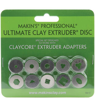 Makin's Professional Ultimate Clay Extruder Discs 10/Pk-Set C