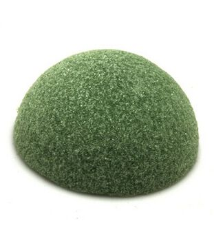 "Styrofoam 1-7/8""x3-7/8"" Half Ball Arranger-1PK/Green"