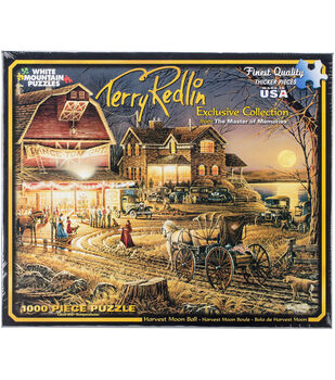 "Jigsaw Puzzle Terry Redlin 1000 Pieces 24""X30""-Harvest Moon Ball"