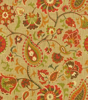 Waverly Print Fabric-Siren Song/Cayenne