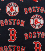 Boston Red Sox MLB blue Fleece Fabric, , hi-res