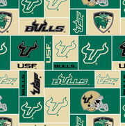 University of South Florida NCAA  Fleece Fabric, , hi-res
