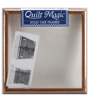 "Quilt Magic Solid Oak Frame 12""X12"""