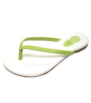 Escape to Paradise Women's Flip Flops-Pineapple