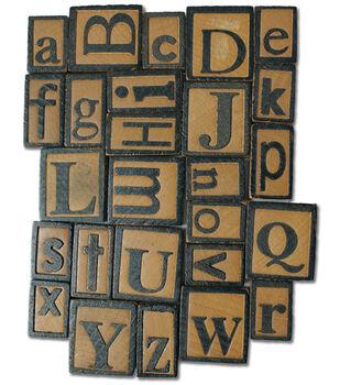 Vintage Collection Letter Press Set 26 Piece-Alphabet