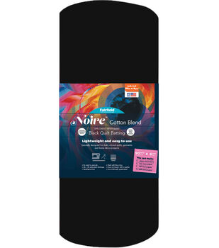 Fairfield Noire Cotton Blend - 60/40 Quilt Batting, Black – 90in x 6yd